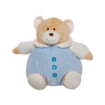 Roly Poly Teddy Bear Blue 30cm