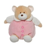 Roly Poly Teddy Bear Pink 30cm