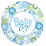 Baby Boy Foil Balloon 43cm (sample image)