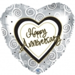 Happy Anniversary Foil Balloon 43cm (sample image)