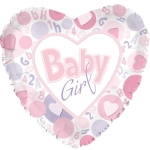 Baby Girl Foil Balloon 43cm (sample image)